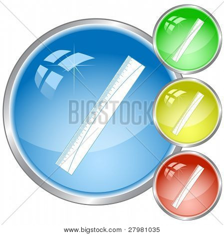 vector icon of ruler. All layers are grouped