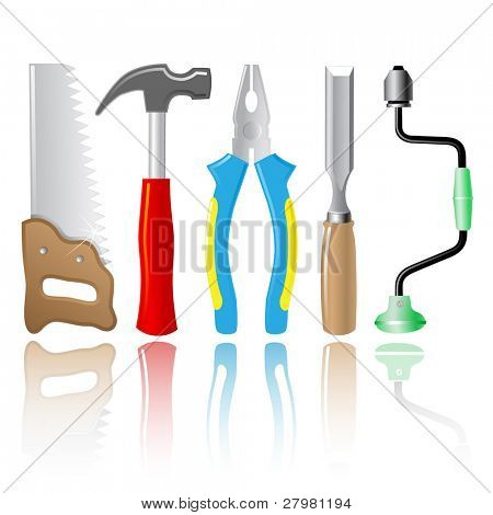 vector icons of joiner's tools. All layers are grouped.