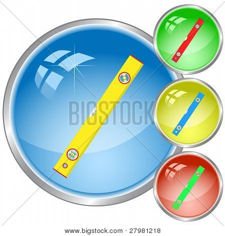 vector icons of spirit level. All layers are grouped