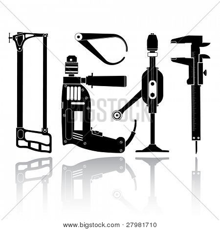 vector icon of fitter's tool