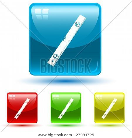 vector icons of spirit level