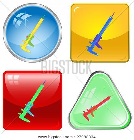 vector icons of caliper