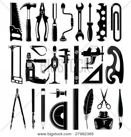 vetor ícones de instrumentos