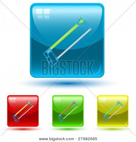 vector icon of hacksaw