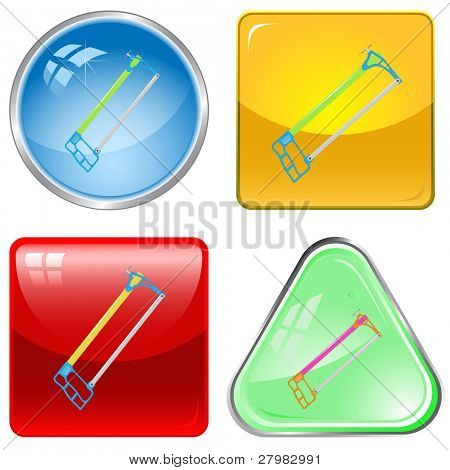 vector icons of hacksaw