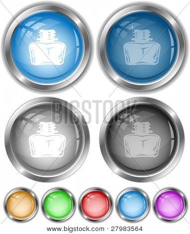 Inkstand. Vector internet buttons.