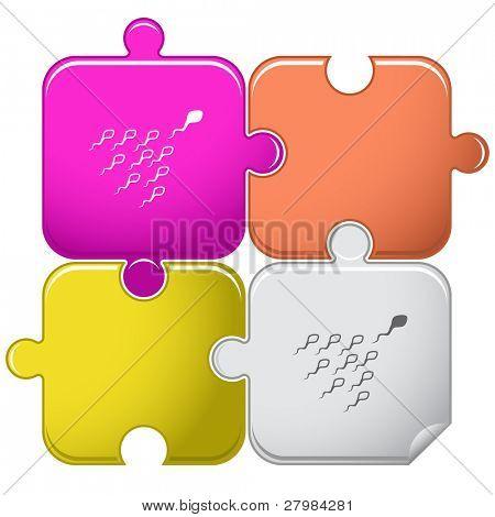 Spermatozoon. Vector puzzle.