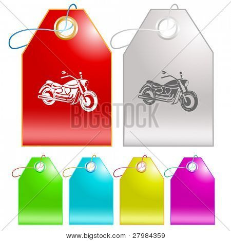 Motorcycle. Vector tags.