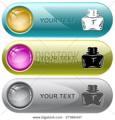 Inkstand. Vector internet buttons.