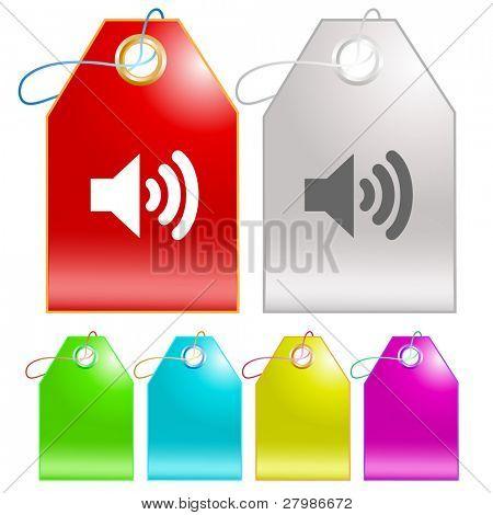 Speaker. Vector tags.