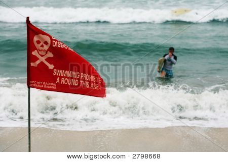 Swimming Prohibited A Round This Area