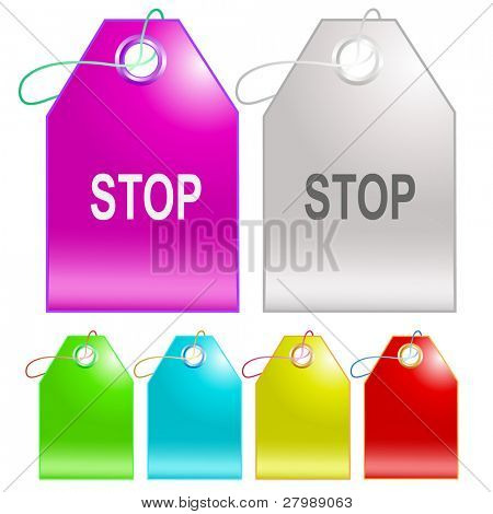 Stop. Vector tags.