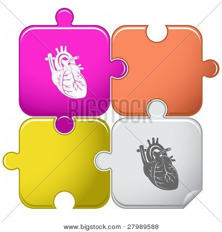 Heart. Vector puzzle.