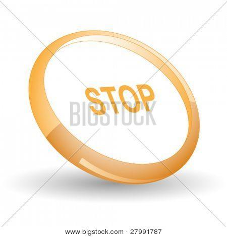 Stop. Vector icon.