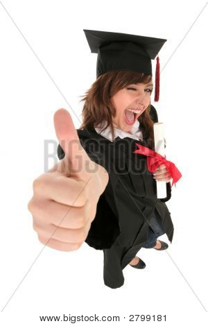 Female Student Graduating