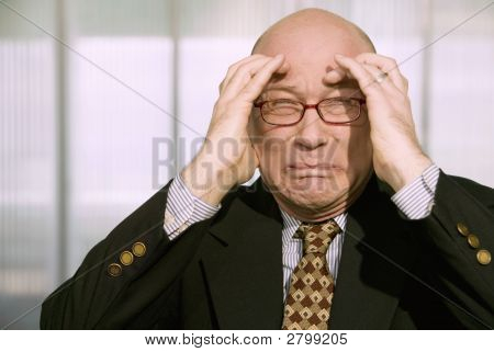 Horrified Businessman