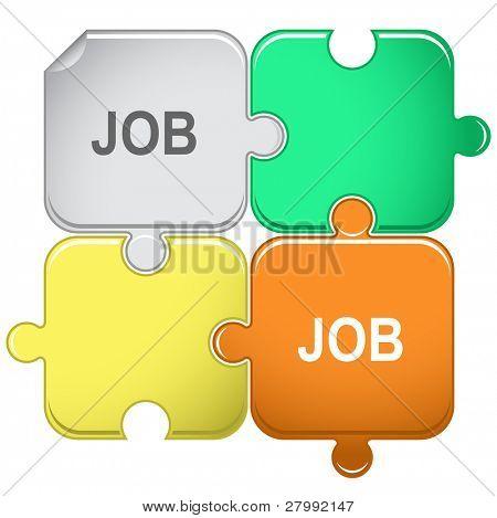 Job. Vector puzzle.