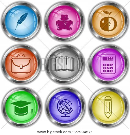 Vector icons of education