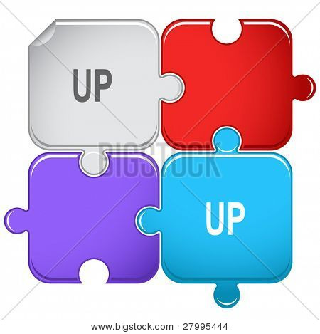 Up. Vector puzzle.
