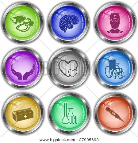 Vektor-Icons der medizinischen Elemente