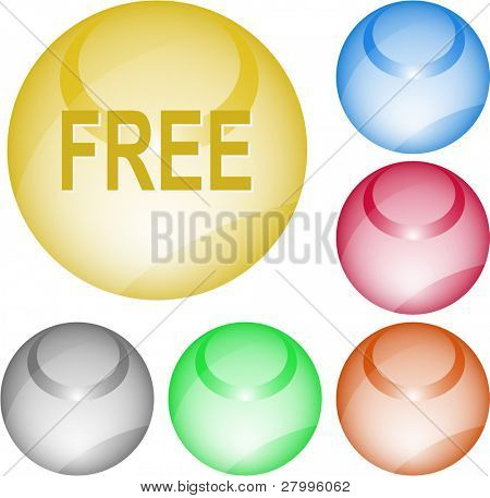 Free. Vector interface element.