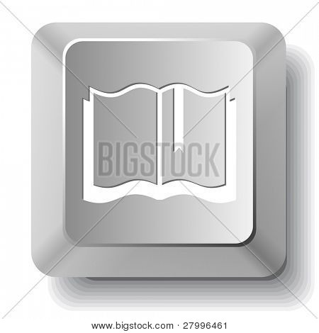 Book. Vector computer key.