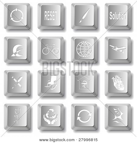Vector set of computer keys