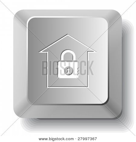 Bank. Vector computer key.