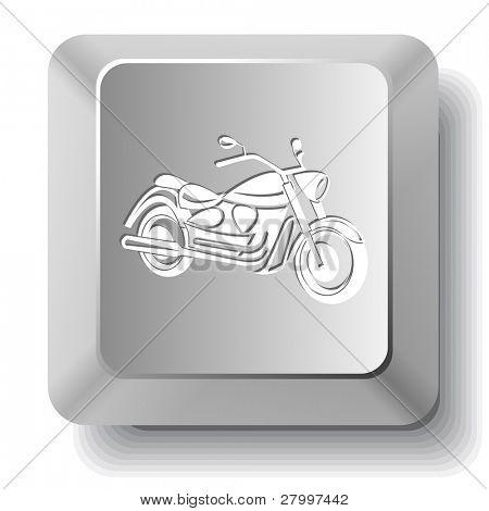 Motorcycle. Vector computer key.
