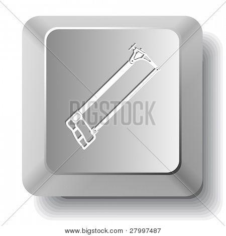 Hacksaw. Vector computer key.