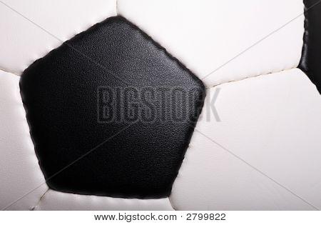 Closeup Detail Of Soccer Ball