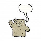 image of wombat  - waving wombat cartoon character - JPG