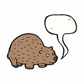 picture of wombat  - wombat with speech bubble cartoon - JPG