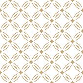 Golden Abstract Geometric Seamless Pattern In Oriental Style. Luxury Vector Background. Simple Graph poster