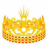 Crown Of The Princess Icon. Cartoon Illustration Of Crown Of The Princess Icon For Web poster