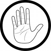 pic of hand gesture  - Vector hand icon - JPG