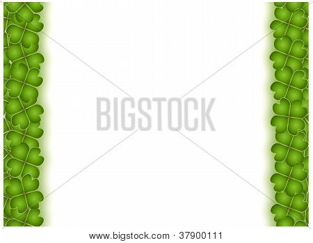 Vertical Four Leaf Clover Frame With Copy Space