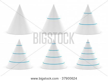 conical shapes, cones