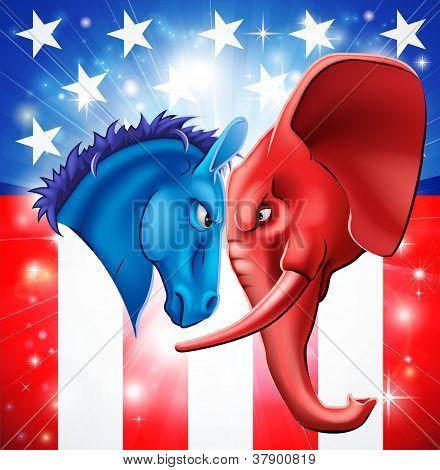 Concepto de la política americana