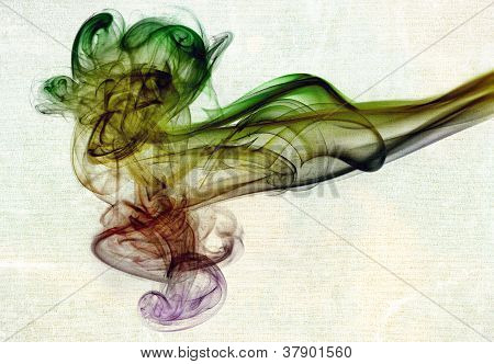 Abstract glowing of smoke