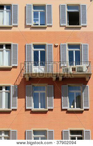Facade Of A Building In Lugano, Switzerland