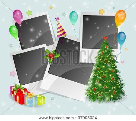 Foto Weihnachten wieder mit Baum und Feld
