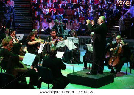Konstantin Orbeljan With An Orchestra