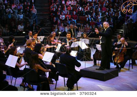 Konstantin Orbeljan With An Orchestra