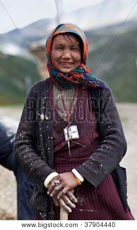 Tibeterin von Dolpo, nepal