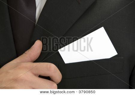 Businessman With His Visiting Card