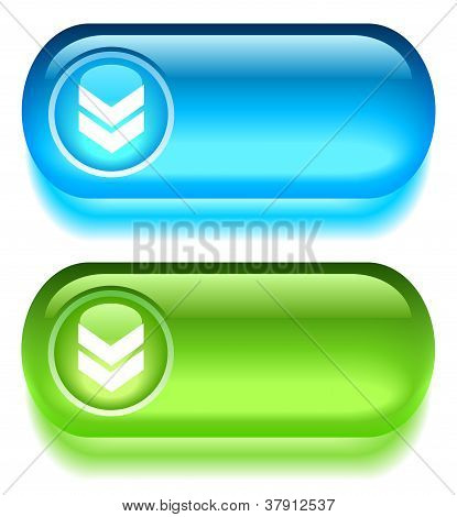 Vector download glass buttons