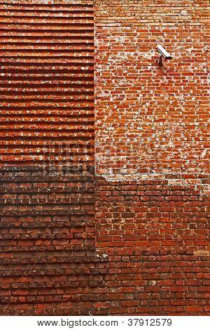 Restored Medieval Brick Wall