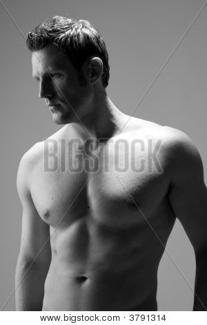 Profile View Of A Hunky Caucasian Man