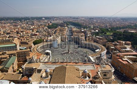 Panoramic View On St. Peter's Square, Vatican